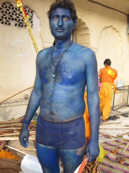 Male with blue color in body: Uncommon Dresses Jaipur 5