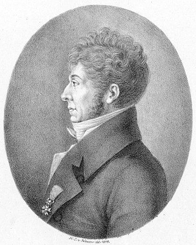 Engraving of  Étienne Nicolas Méhul by Heinrich Eduard Winter, 1817