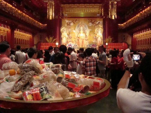 Inside the Buddha temple