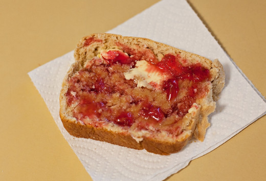Yummy prickly pear jelly on toast