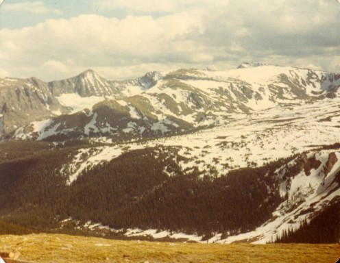 The view from Trail Ridge Road, Rocky Mountain National Park.