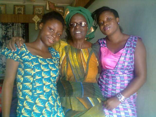 From Left, Grand-daughter, Mummy and Last Born