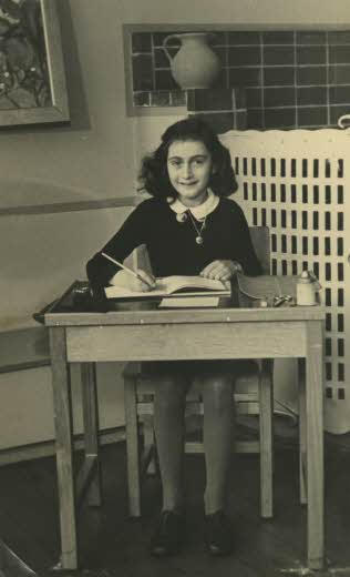 Anne Frank in 1940 Unknown photographer confirmed by Anne Frank Foundation., Amsterdam in 2015