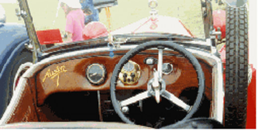 Uncomplicated dash board and steering wheel