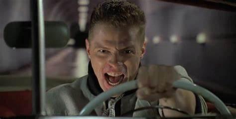 Biff's temper behind the wheel. Circa 1985