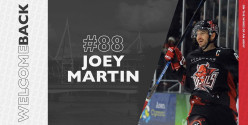 Joey Martin re-signs for a 7th season