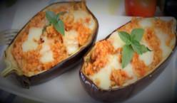 Eggplants Boat Stuffed With Rice
