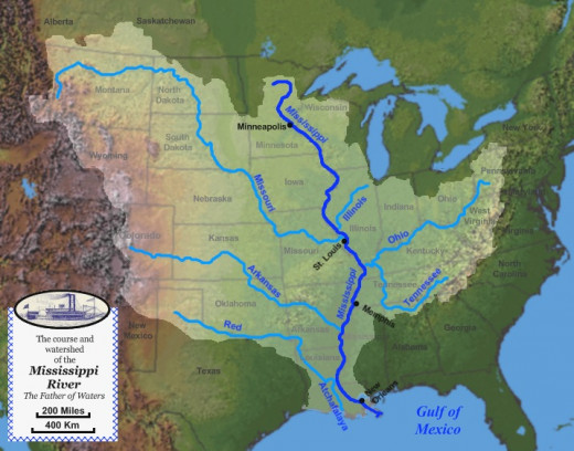 Mississippi River and Conteibutories