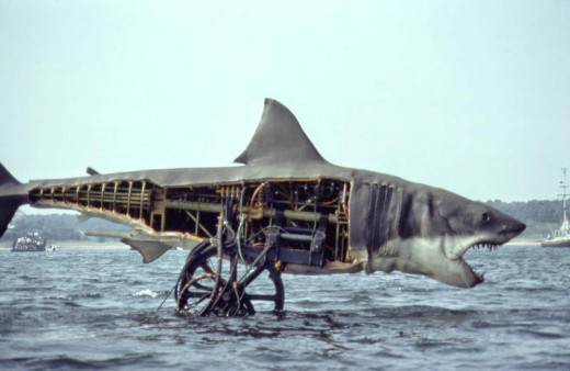 The mechanics inside the JAWS shark.