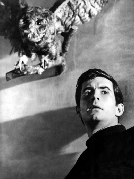 Norman Bates (Tony Perkins) in Alfred Hitchcock's Psycho, 1960