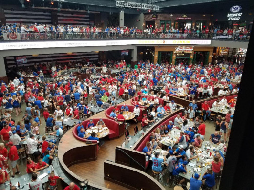 Ballpark Village near Busch Stadium 2018 just before a Cards vs Cubs game. That place was packed!