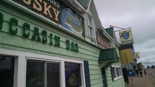 The Moccasin Bar in Hayward, Wisconsin.