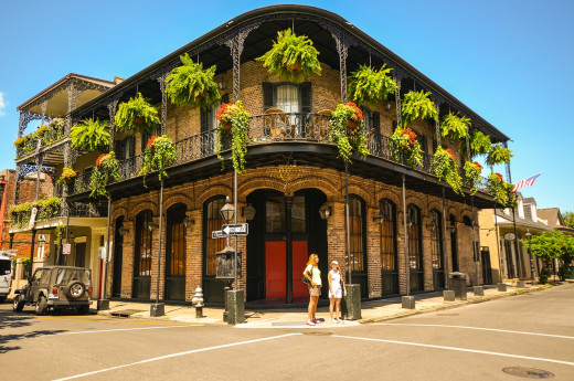 A typical building in the French Quarter