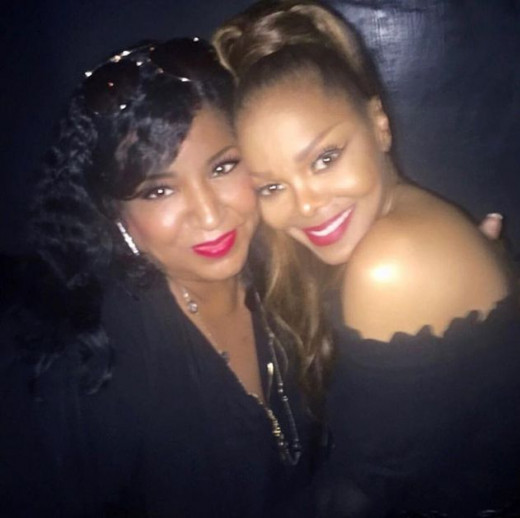 Melanie Andrews meeting back up with her BFF, Janet Jackson in 2019. You could say they both have come a long ways professionally since their high school days.