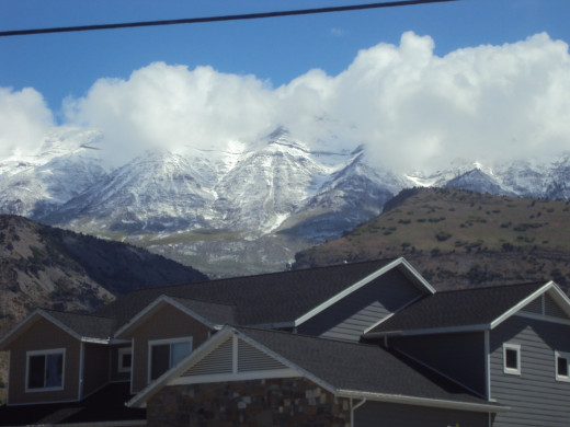 Mount Timpanogos in late May 2020.