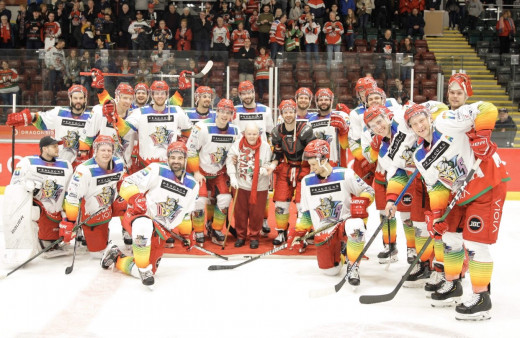 2019/20 Devils roster after the Pride game against the Nottingham Panthers