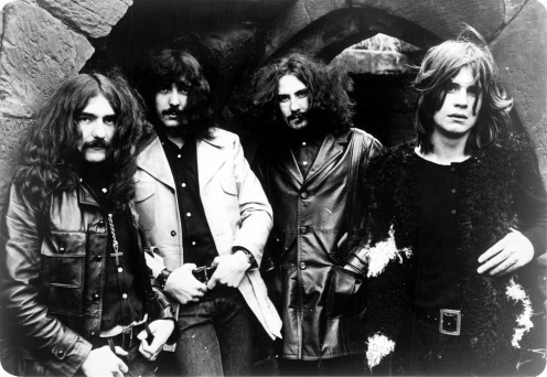 A photo of the band Black Sabbath in 1970, Ozzy Osbourne is on the far right of the picture.