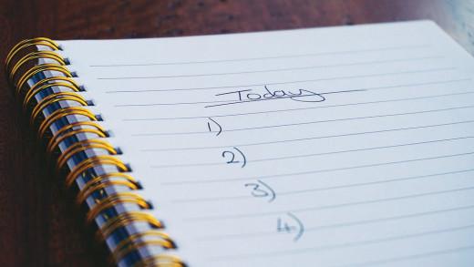 Starting List of Activities