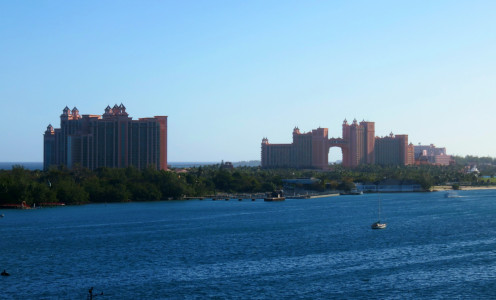 View of the Atlantis Resort from the ship