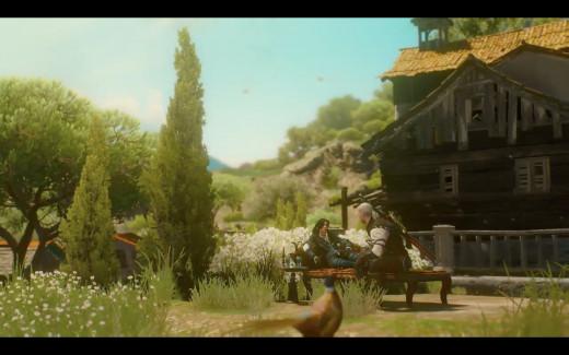 Geralt and Yen in retirement bliss