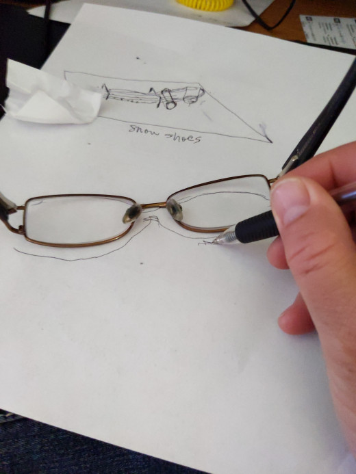 Trace around current glasses