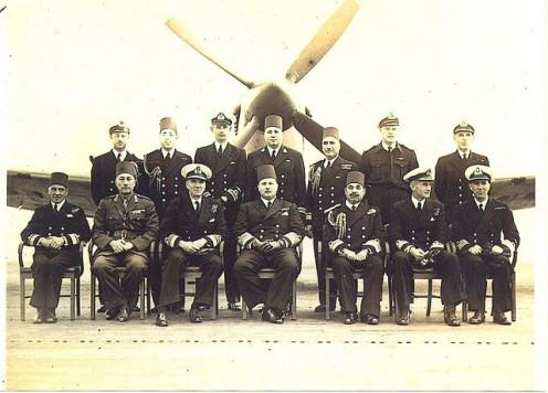 King Farouk I on board HMS Hunter