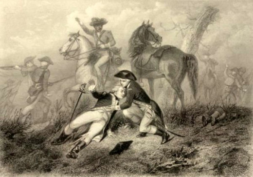 Lafayette wounded at the battle of Brandywine