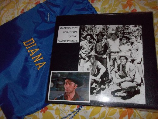 My scrapbook full of treasured autographed pictures.