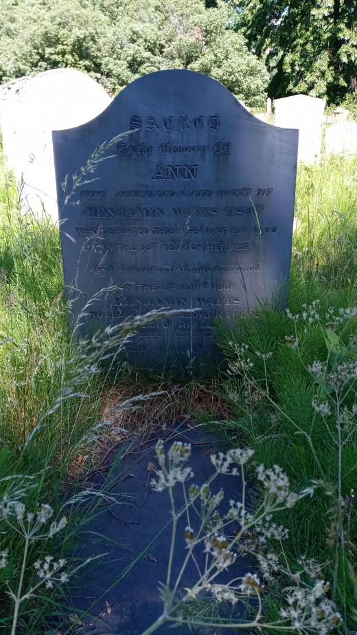Ann's grave. An accidental encounter.
