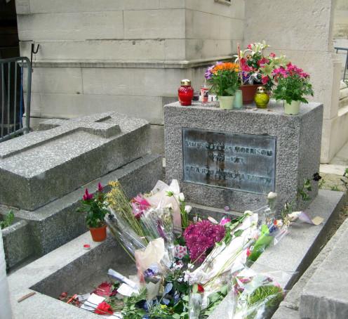 Jim Morrison's Grave at the Père Lachaise Cemetery