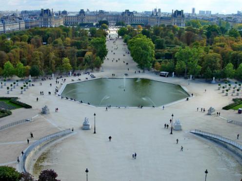 The Tuileries Garden in Paris