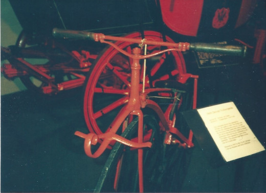 An antique bicycle.