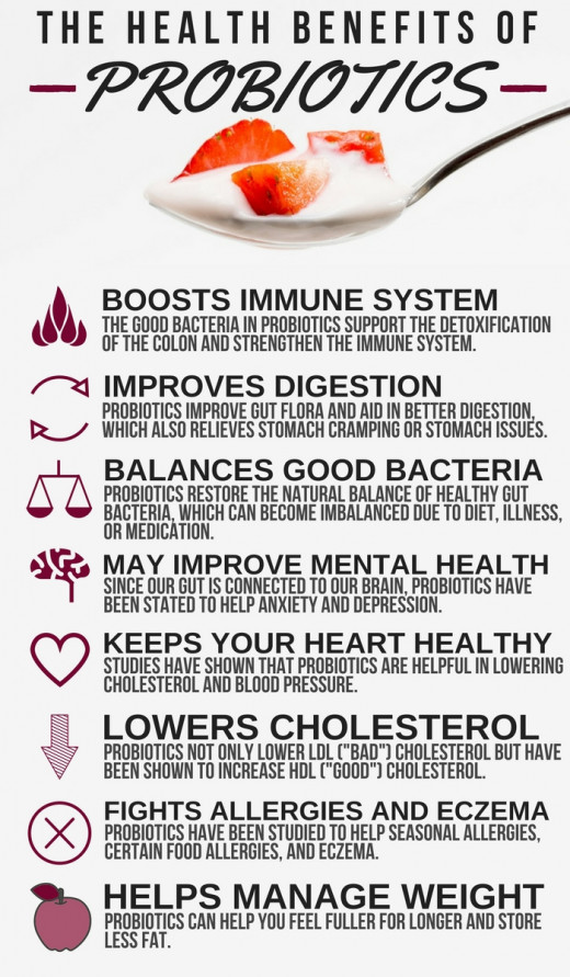 Maintain an adequate amount of probiotics to take advantage of their many health benefits.