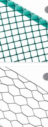 Choose Hardware Cloth Wire (TOP)-it's sturdier and gentler for your rabbit's safety than Chicken Wire (BOTTOM)