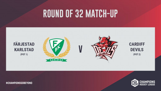 Cardiff Devils will face Farjestad BK in the round of 32 in the 2020/21 Champions Hockey League.