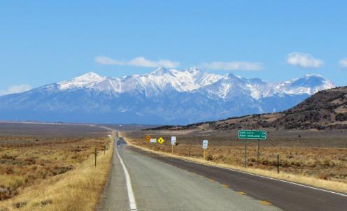 Highway near the Colorado and New Mexico border.