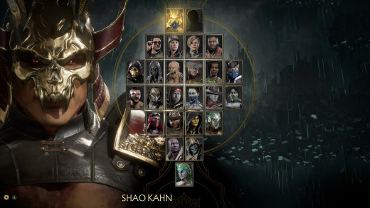 The character select in Mortal Kombat 11 gets bigger than this though not by much.
