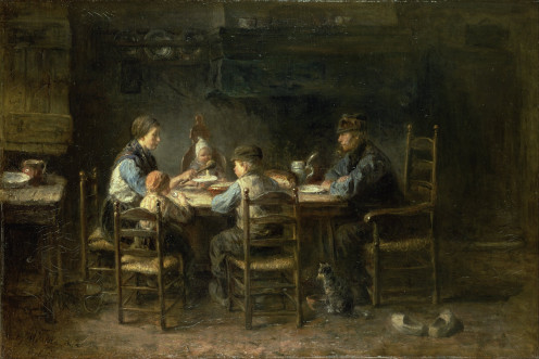 Peasant Family at the Table - Jozef Israels 1882