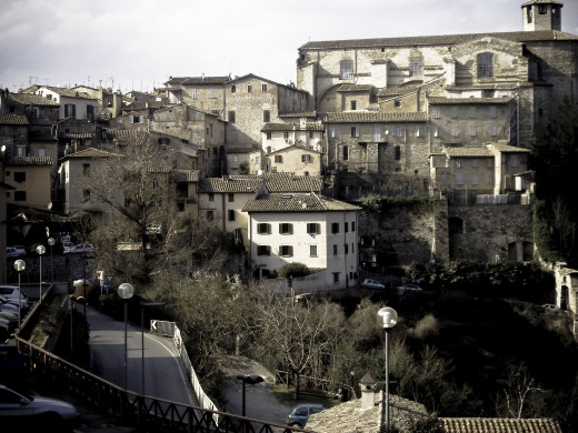 The houses in Perugia.