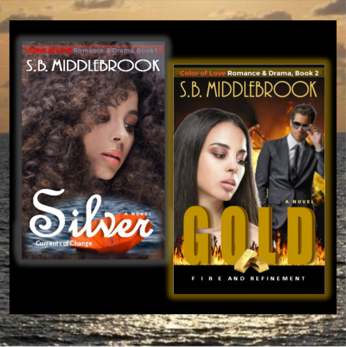 My first two novels, Silver and Gold.I'm releasing them both again soon with the snazzy new covers, under my given name (instead of using my pen name). You are invited to read them free of charge (as a beta reader) on wattpad.com.