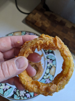 Onion Rings Deep Fried With a Beer Batter