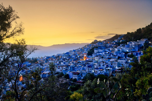 Sunset over Chefchaouen