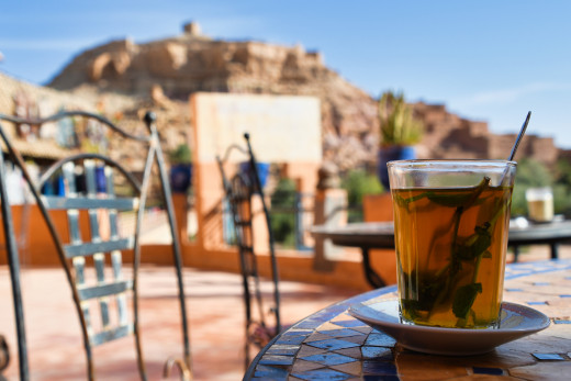Mint tea – Morocco's national drink at Ait Ben Haddou