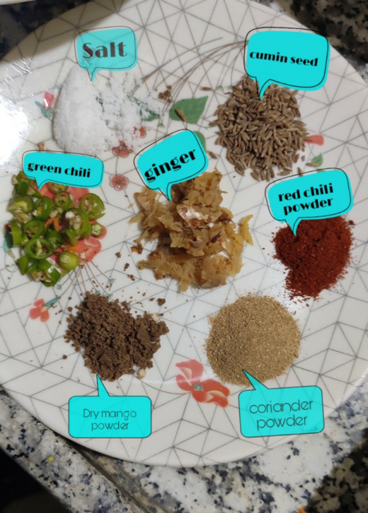Spices used for stuffing
