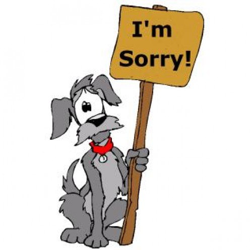 I'm so dog-gone sorry.