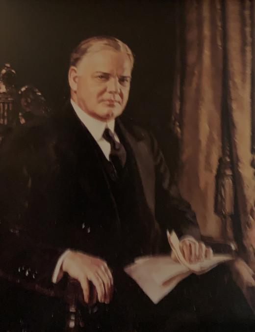 Portrait of Herbert Hoover, Oil on canvas by Douglas Chandor, 1931.