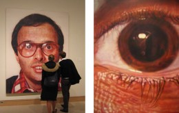 Chuck Close airbrushed oil on canvas