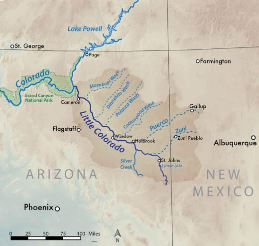 Map of Zuni Area