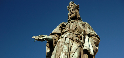 A statue to Charles IV, the first Bohemian - the then name for the kingdom composing Czechia - king to become Holy Roman Emperor. There is plenty of focus on politics but much less for the rest of society.