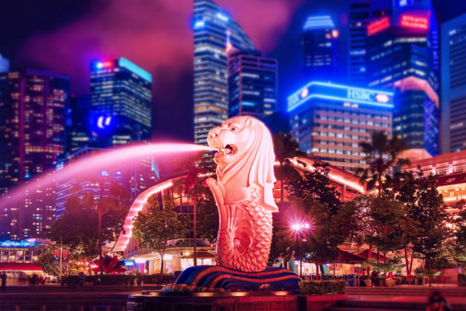 Singapore is a modern small country in Southeast Asia